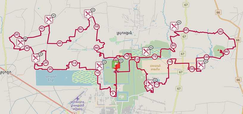 Trace de Trail - Parcours UTA 128