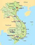 Carte Cambodge - Vietnam